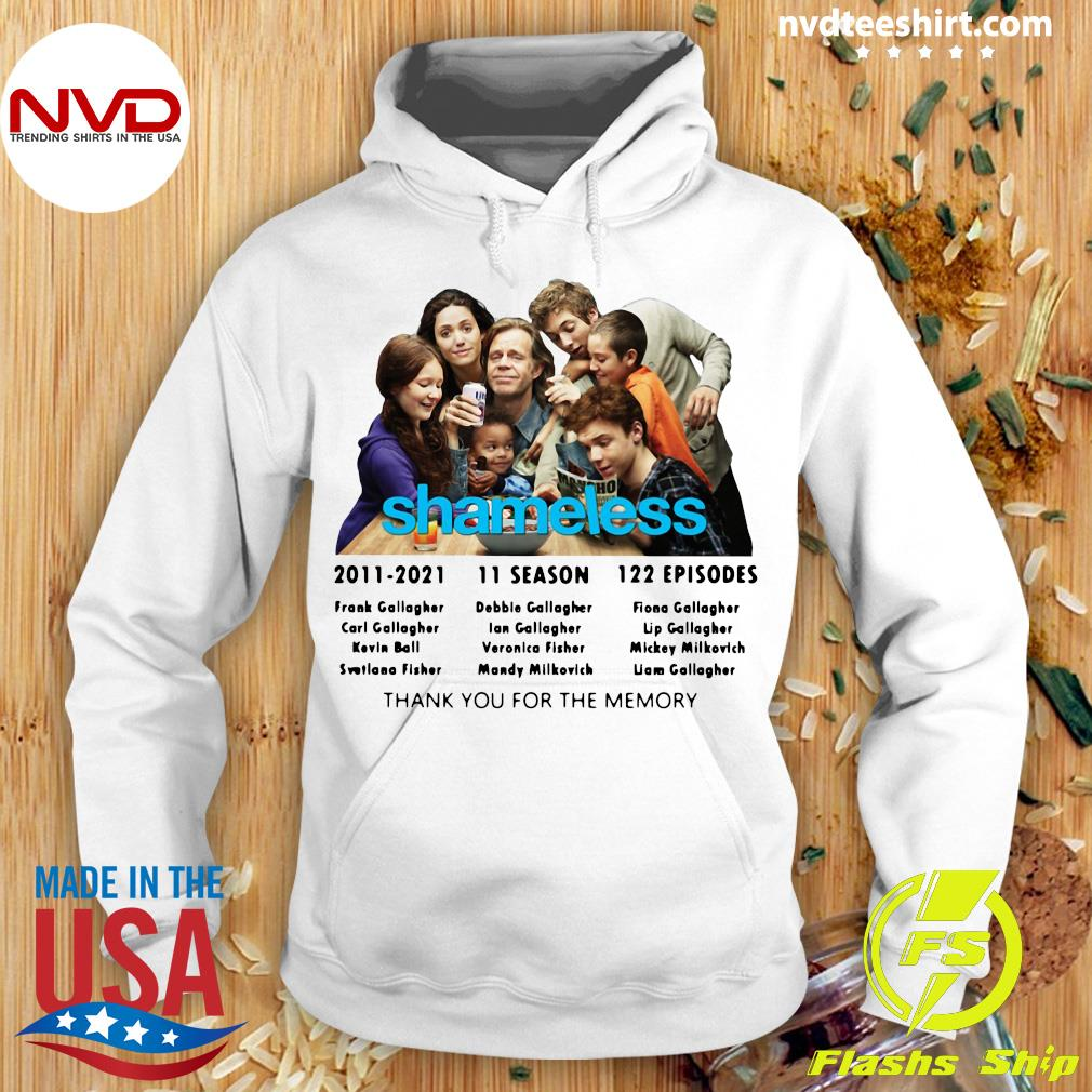 Official Shameless 2011 2021 11 Season 122 Episodes Thank You For The Memory T-s Hoodie