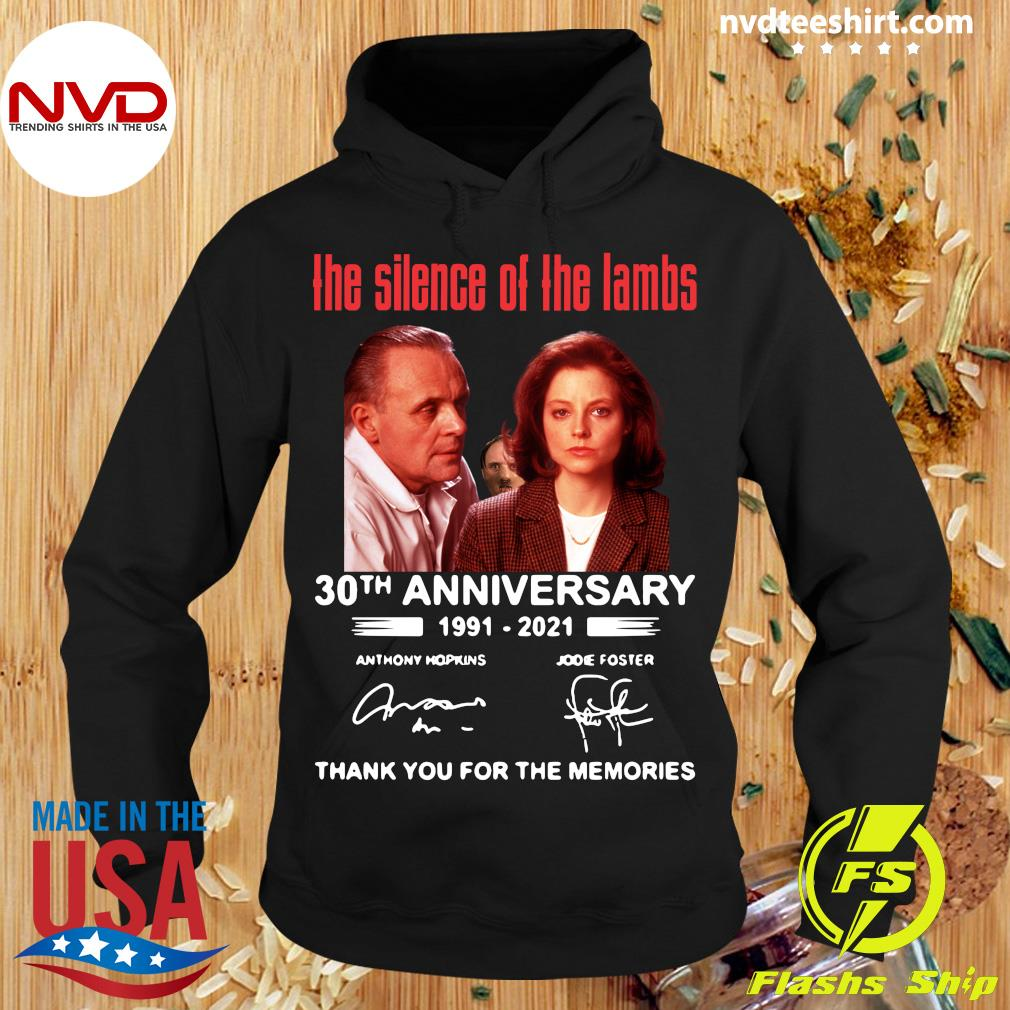 Official The Silence Of The Lambs 30th Anniversary 1991 2021 Thank You For The Memories T-s Hoodie
