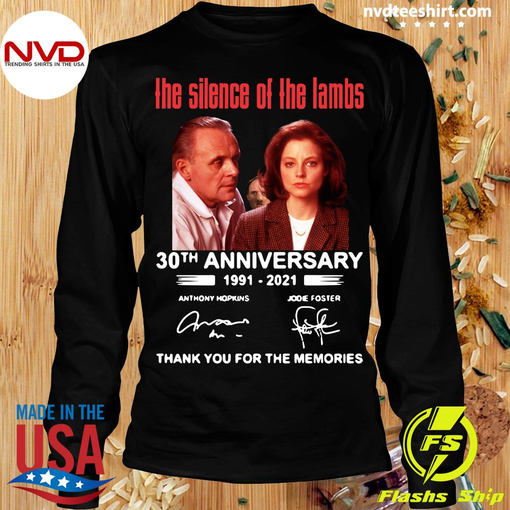Official The Silence Of The Lambs 30th Anniversary 1991 2021 Thank You For The Memories T-s Longsleeve