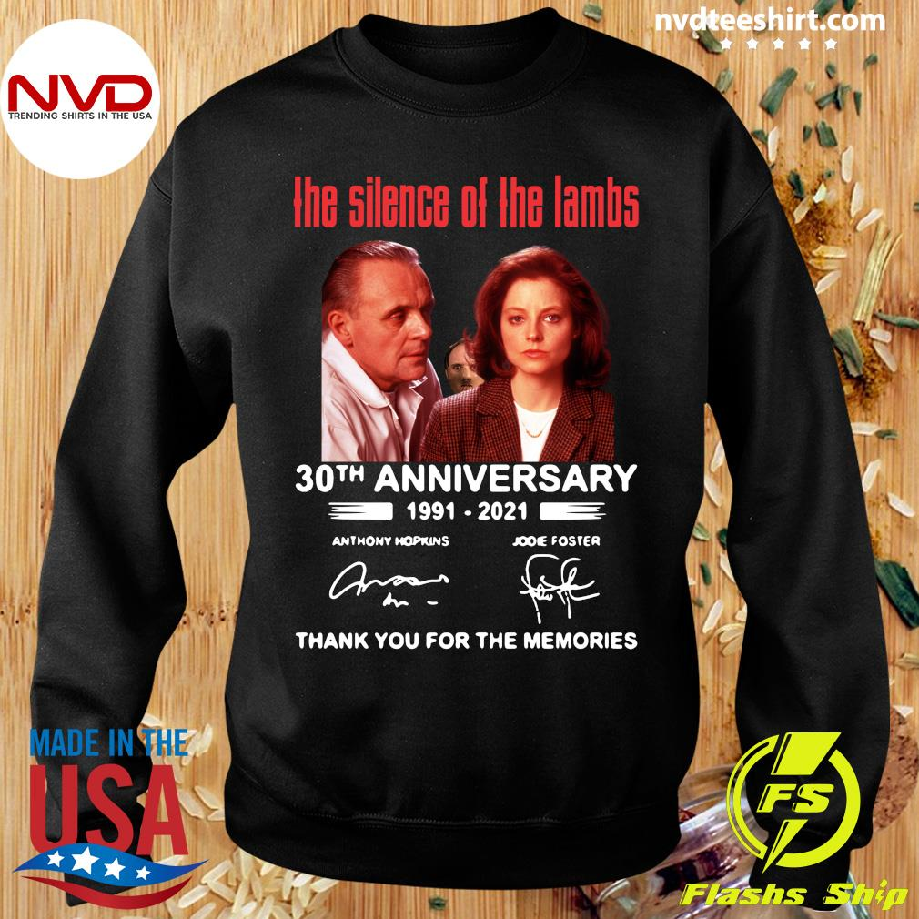 Official The Silence Of The Lambs 30th Anniversary 1991 2021 Thank You For The Memories T-s Sweater