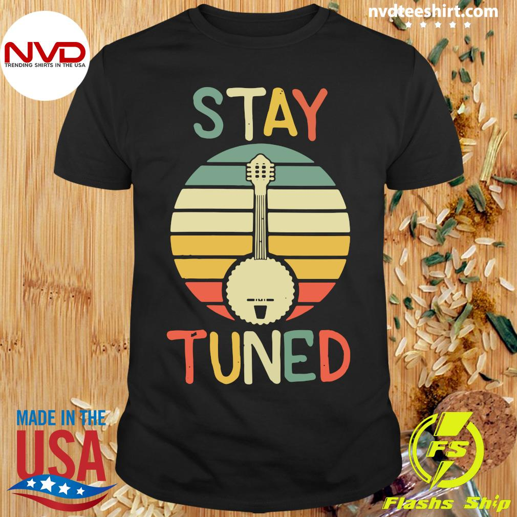 Official Womens Stay Tuned Retro Banjo Graphic T-shirt