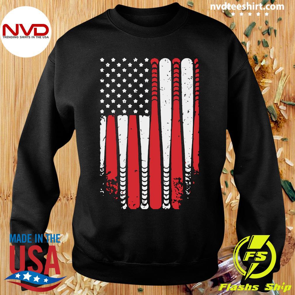 American Flag Baseball Funny T-s Sweater