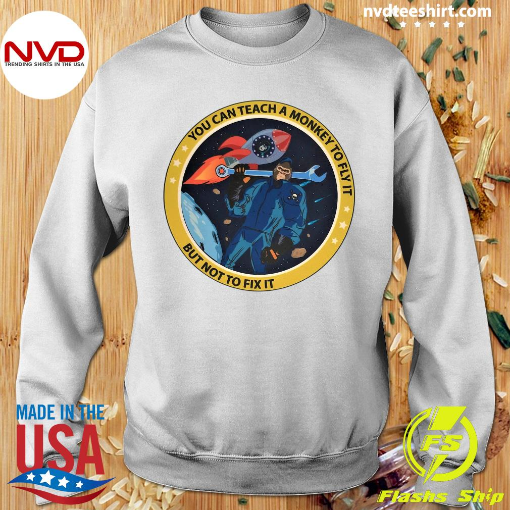 Funny Bigfoot You Can Teach A Monkey To Fly It But Not To Fix It T-s Sweater