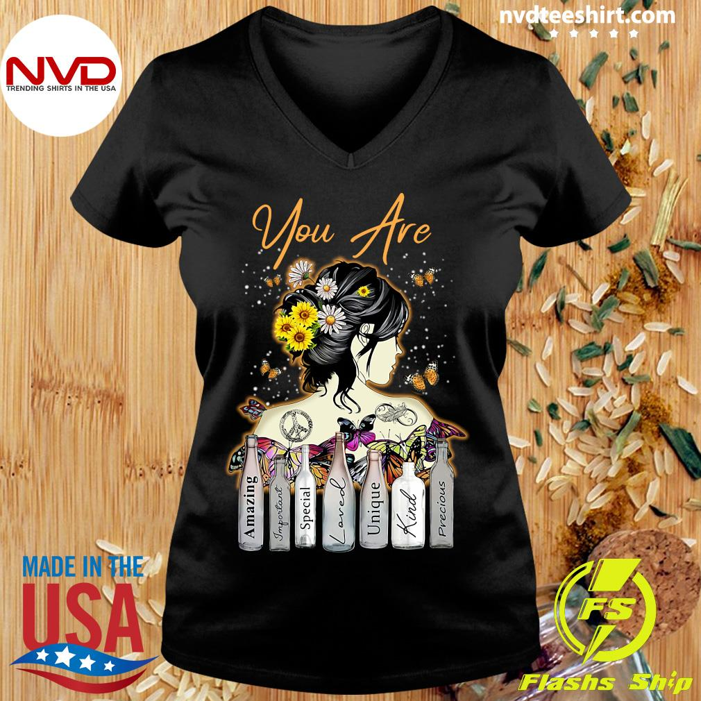 Funny Girl Sunflower You Are Amazing Important Special Loved Unique Kind Precious T-s Ladies tee