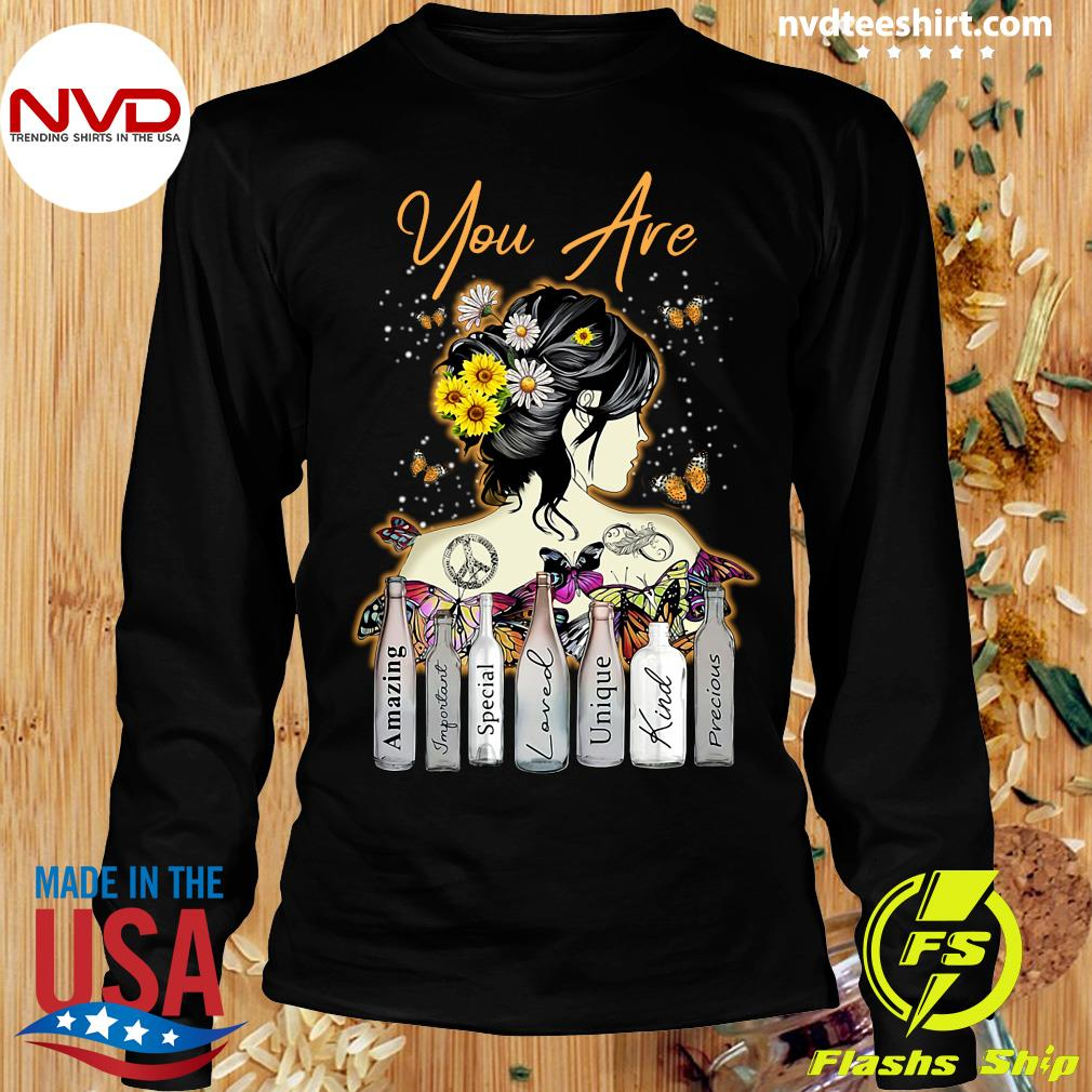 Funny Girl Sunflower You Are Amazing Important Special Loved Unique Kind Precious T-s Longsleeve