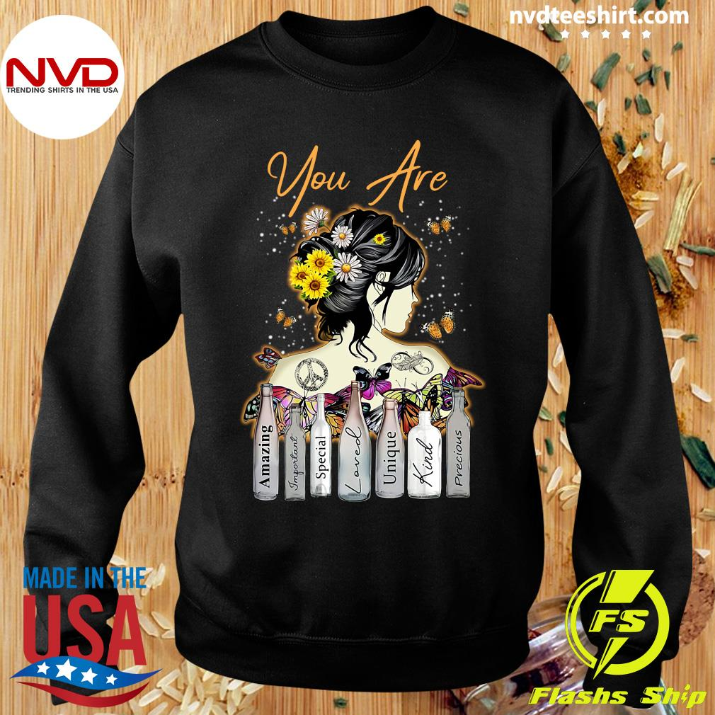 Funny Girl Sunflower You Are Amazing Important Special Loved Unique Kind Precious T-s Sweater
