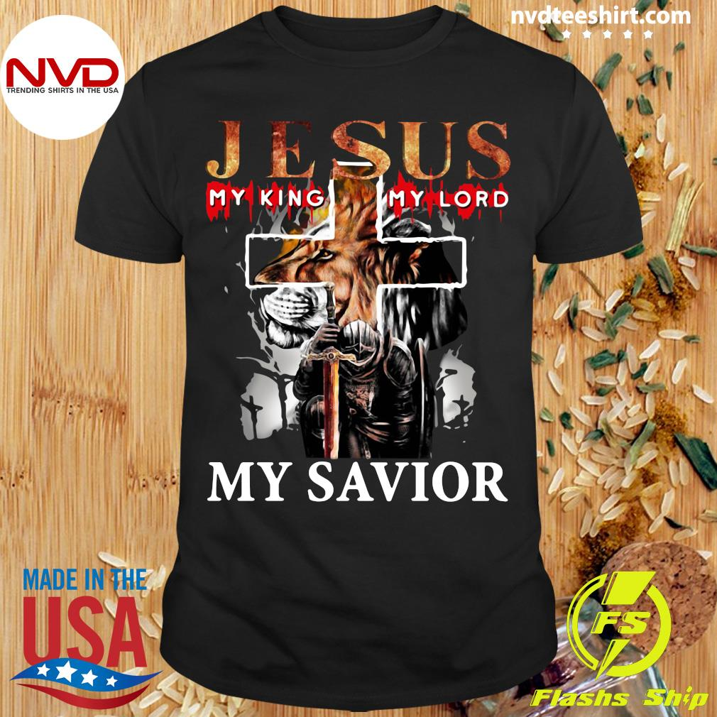 Funny Lion Jesus My King My Lord My Savior T-shirt