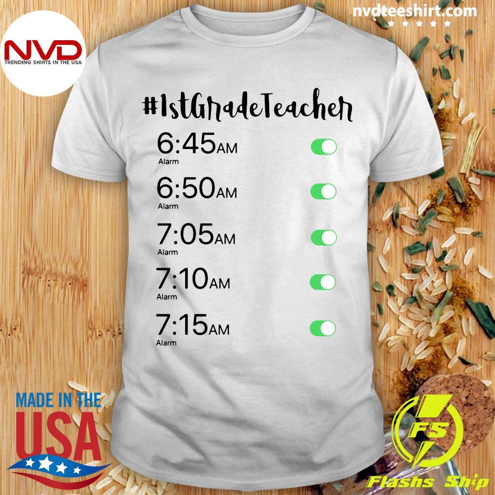 Official Alarm Clock 1st Grade Teacher T-shirt