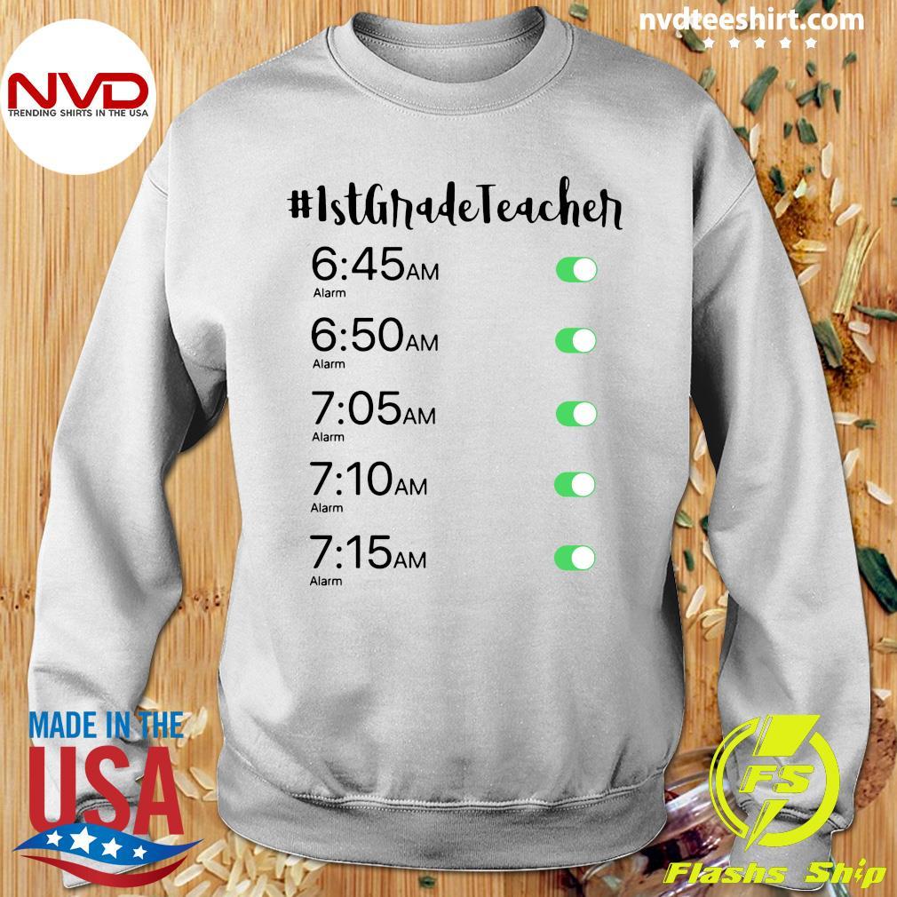 Official Alarm Clock 1st Grade Teacher T-s Sweater
