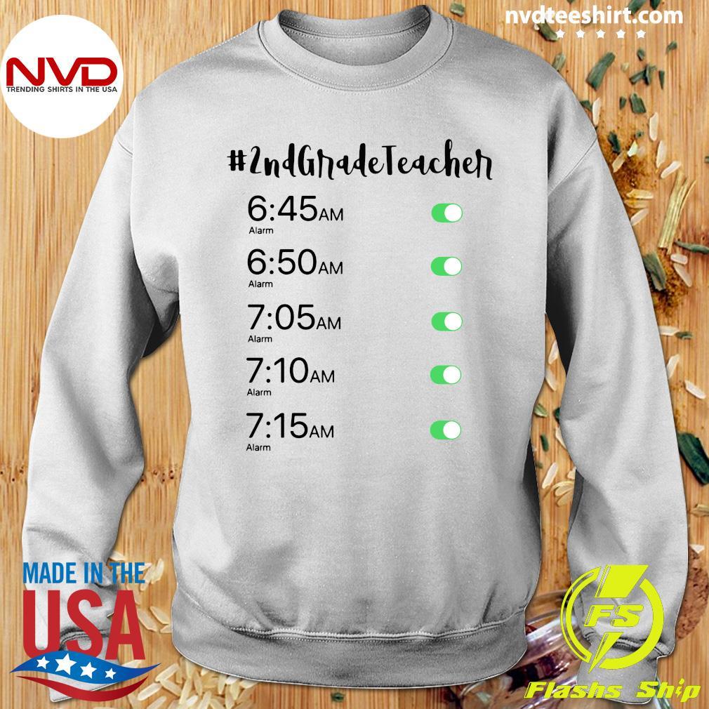 Official Alarm Clock 2nd Grade Teacher T-s Sweater