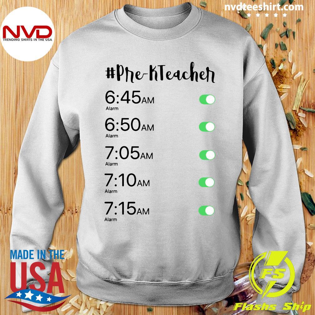 Official Alarm Clock Pre-K Teacher T-s Sweater