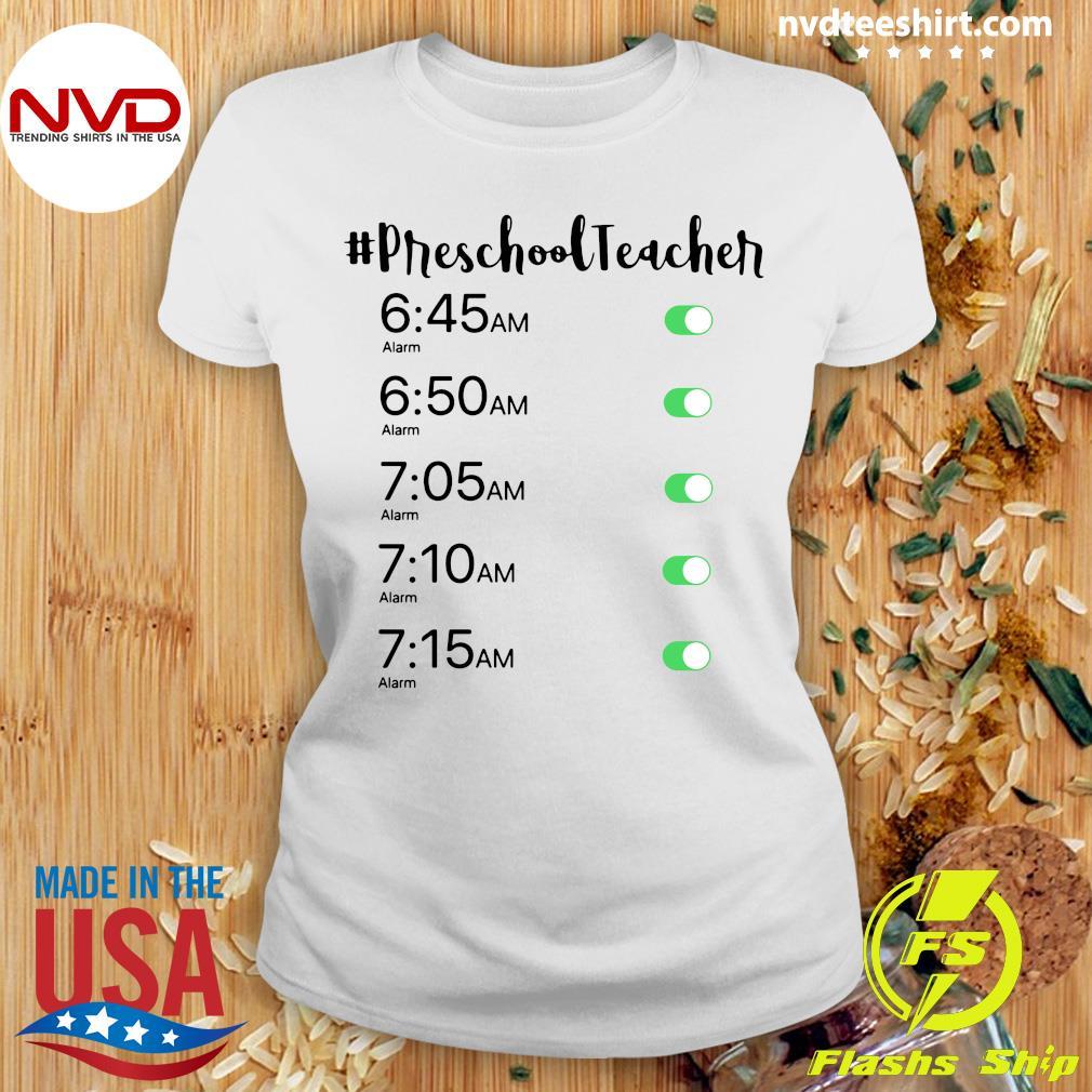Official Alarm Clock #Preschool Teacher T-s Ladies tee
