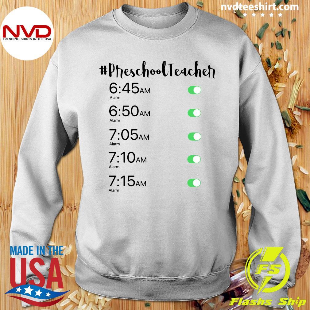 Official Alarm Clock #Preschool Teacher T-s Sweater