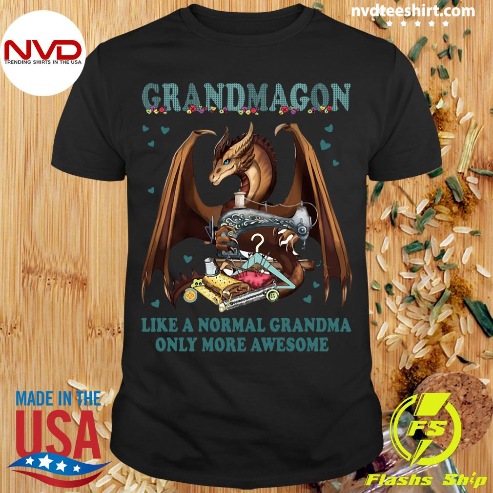 Official Grandmagon On Like Normal Grandma Only More Awesome T-shirt