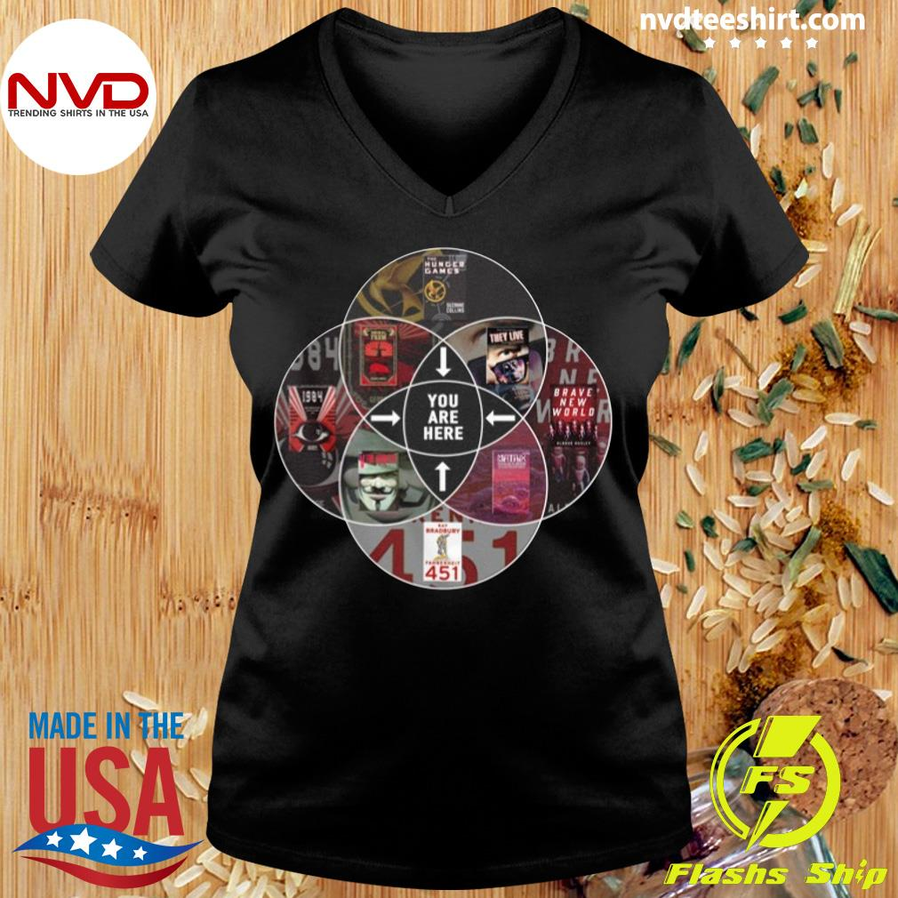 Official Hunger Games You Are Here T-s Ladies tee