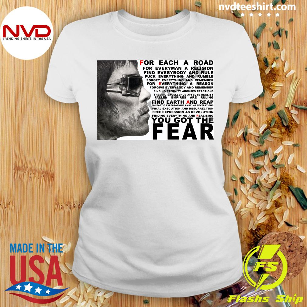 Official Ian Brown For Each A Road You Got The Fear T-s Ladies tee