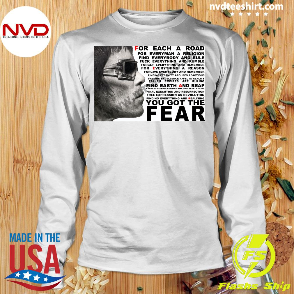 Official Ian Brown For Each A Road You Got The Fear T-s Longsleeve