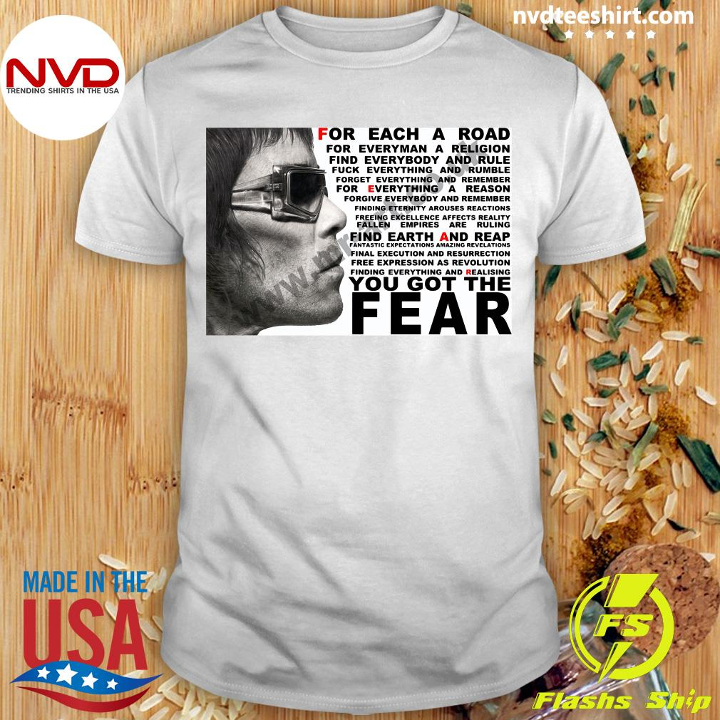 Official Ian Brown For Each A Road You Got The Fear T-shirt