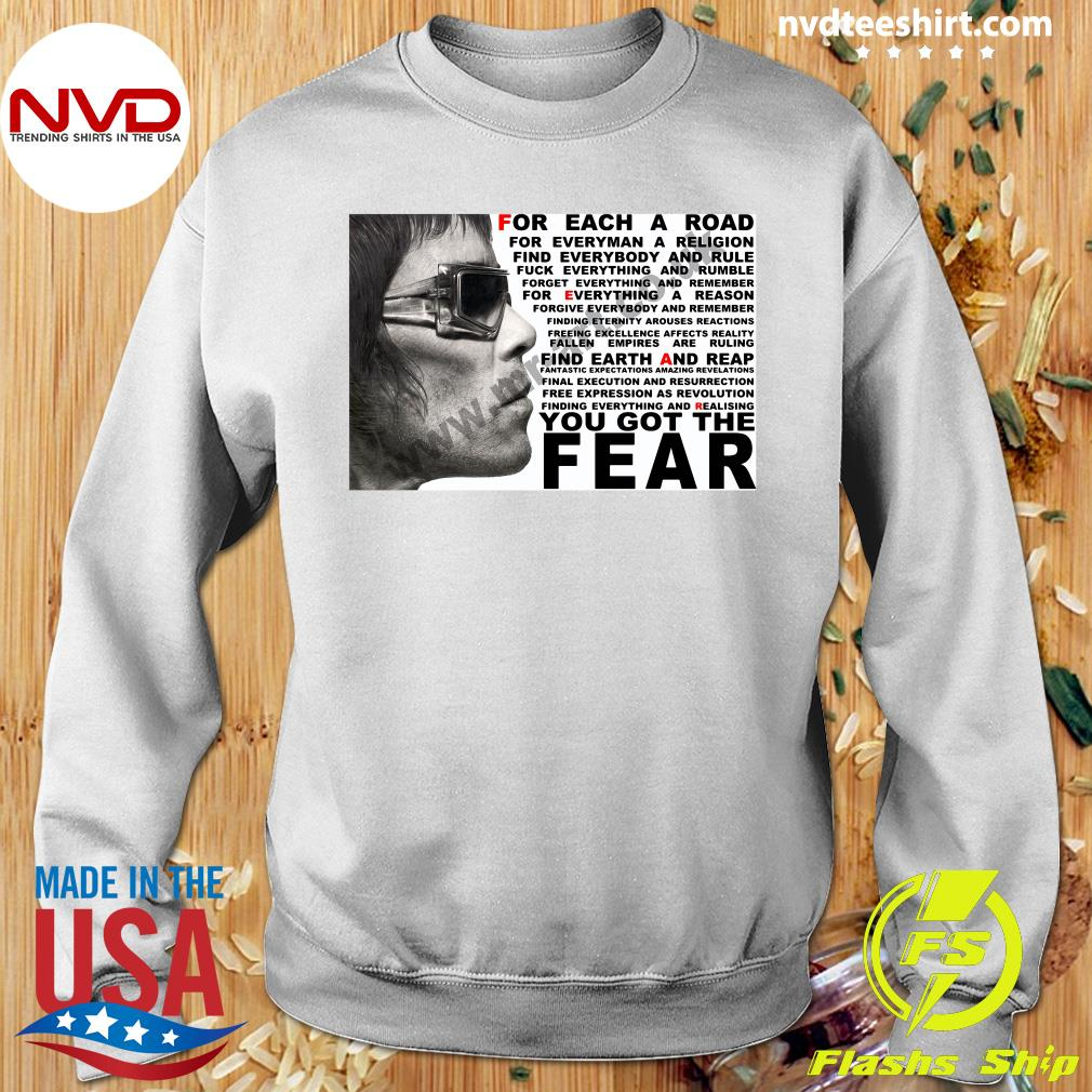 Official Ian Brown For Each A Road You Got The Fear T-s Sweater