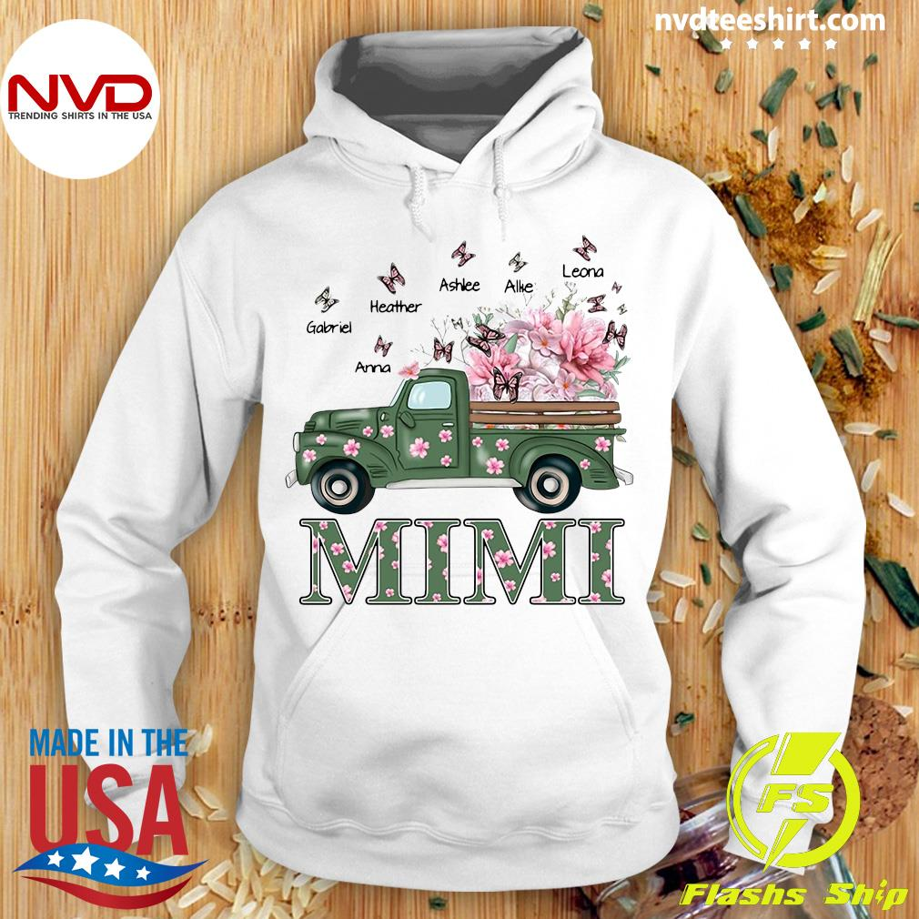 Official Mimi With Grandkids Truck Flower T-s Hoodie