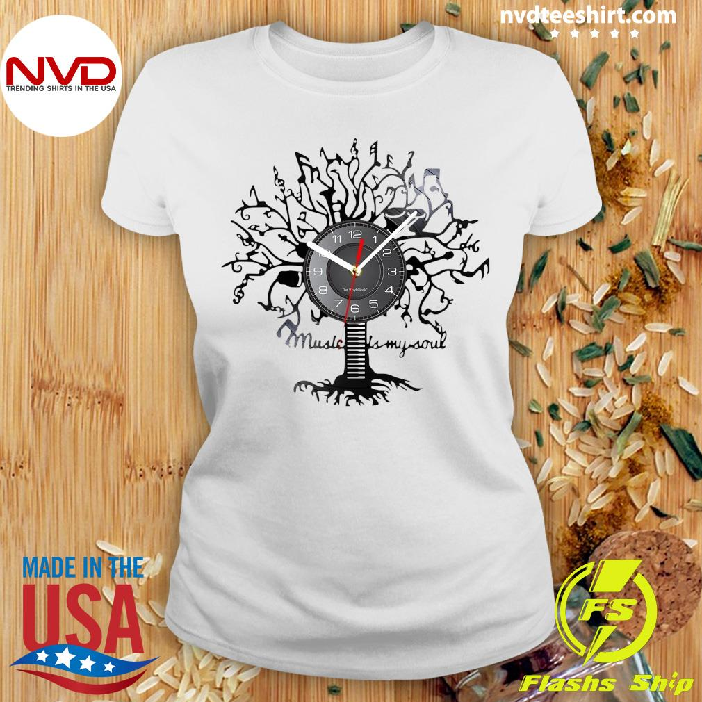 Official Music Is My Soul Tree Wall Clock T-s Ladies tee