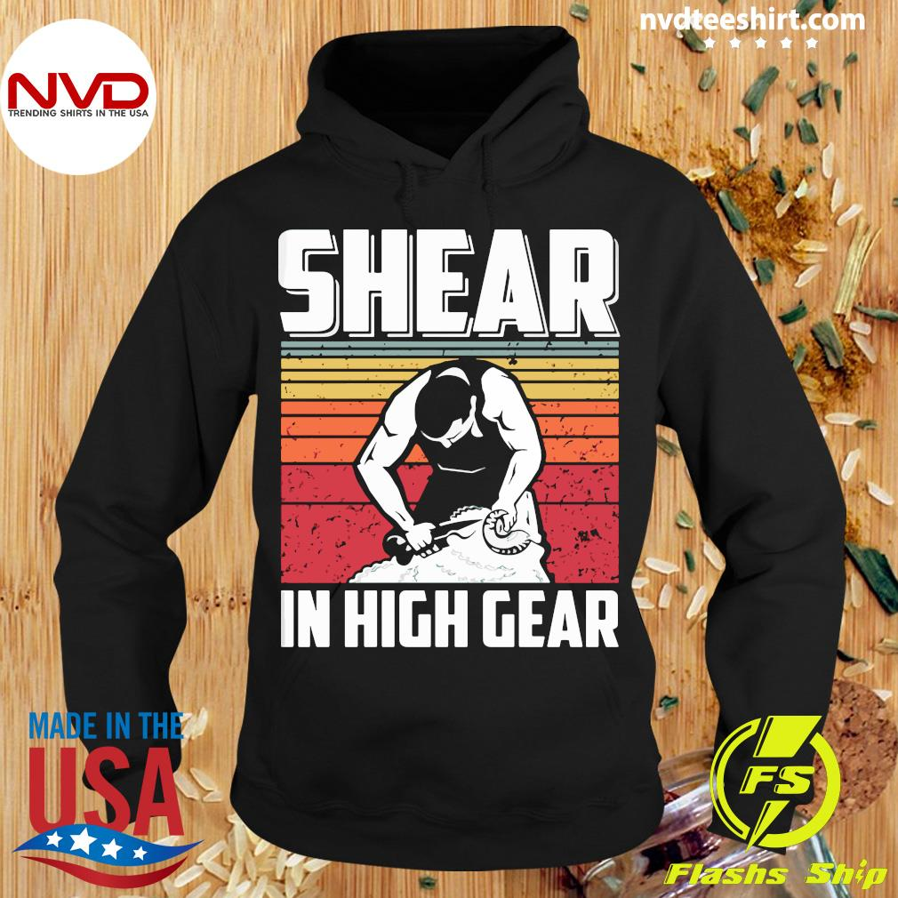 Official Shear In High Gear Vintage T-s Hoodie