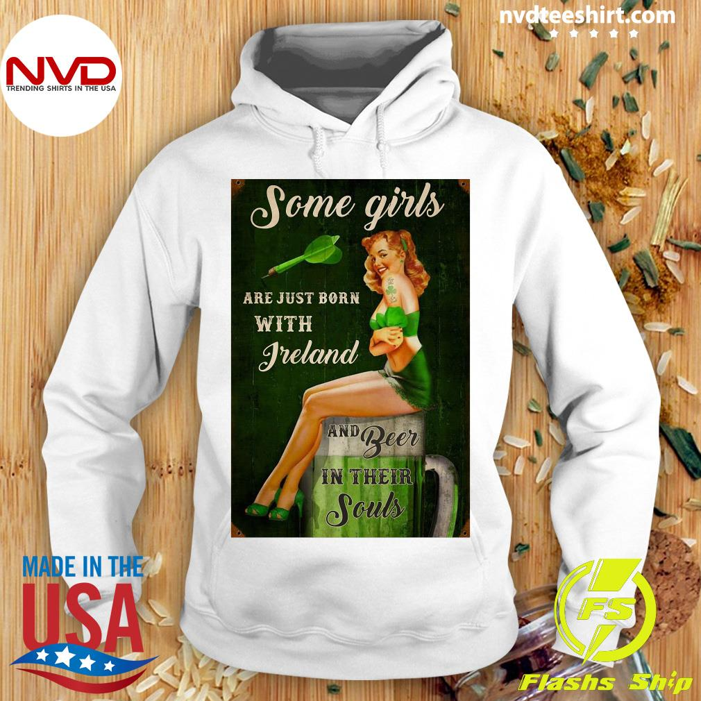 Official Some Girls Are Just Born With Freland And Beer In Their Souls T-s Hoodie