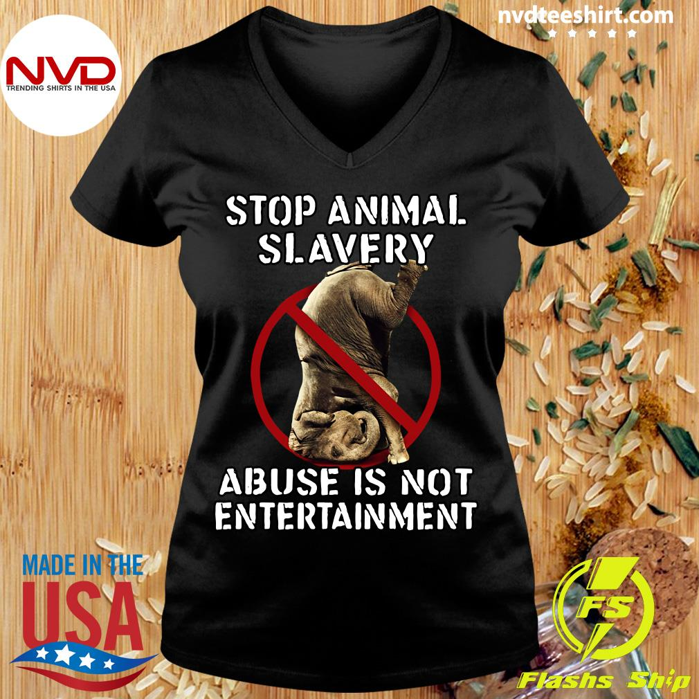 Official Stop Animal Slavery Abuse Is Not Entertainment T-s Ladies tee