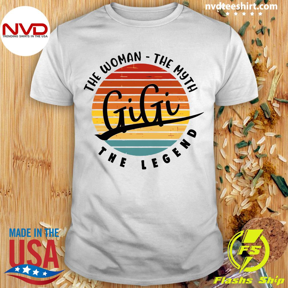 Official The Woman The Myth Gigi The Legend Vintage Retro T-shirt