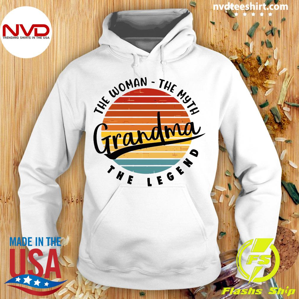 Official The Woman The Myth Grandma The Legend Vintage Retro T-s Hoodie