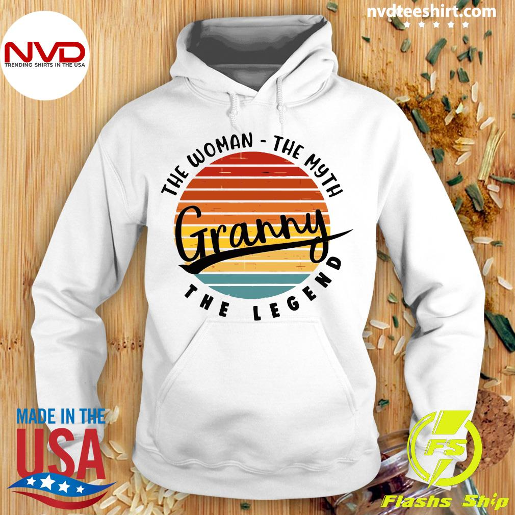 Official The Woman The Myth Granny The Legend Vintage Retro T-s Hoodie
