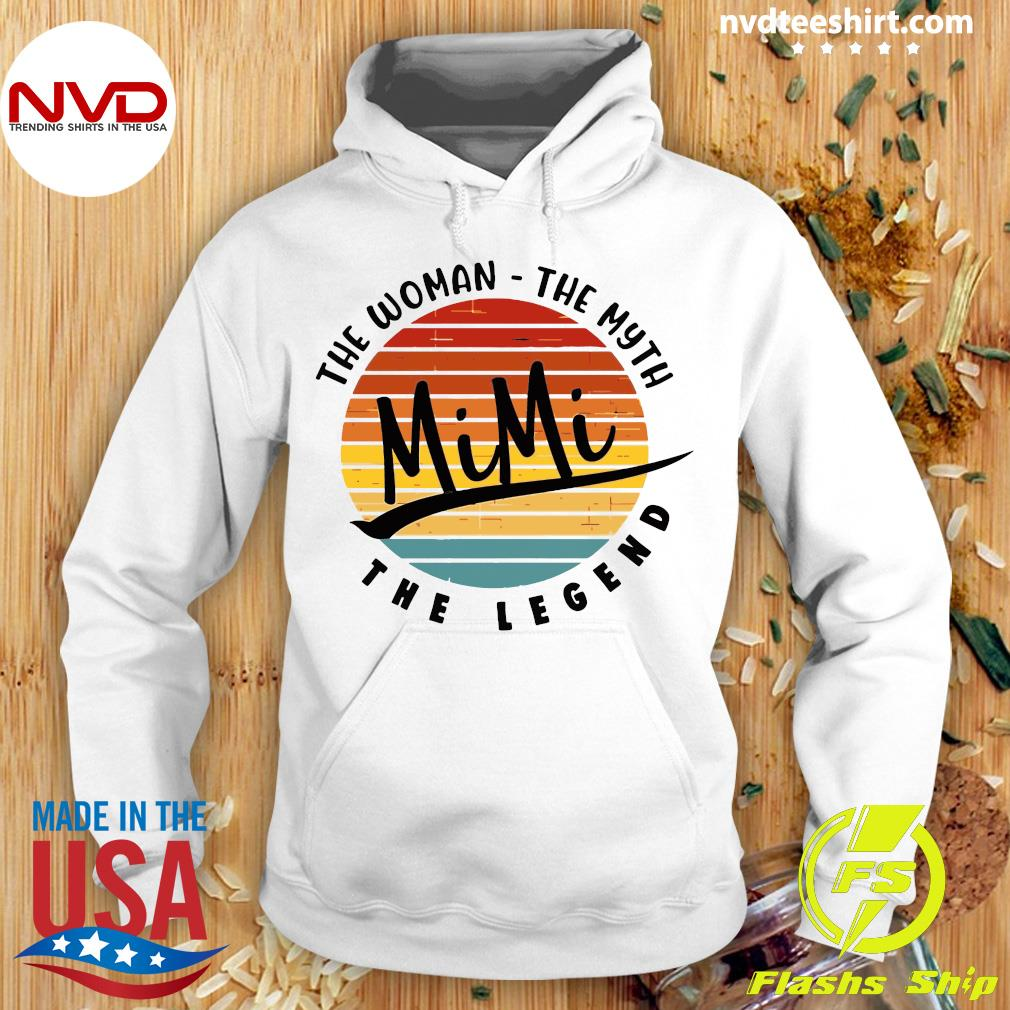 Official The Woman The Myth Mimi The Legend Vintage Retro T-s Hoodie