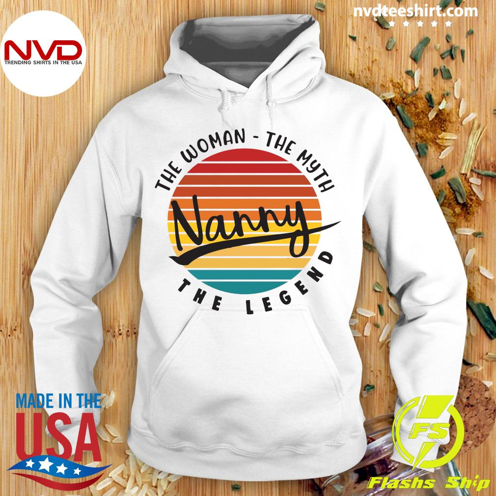 Official The Woman The Myth Nanny The Legend Vintage Retro T-s Hoodie