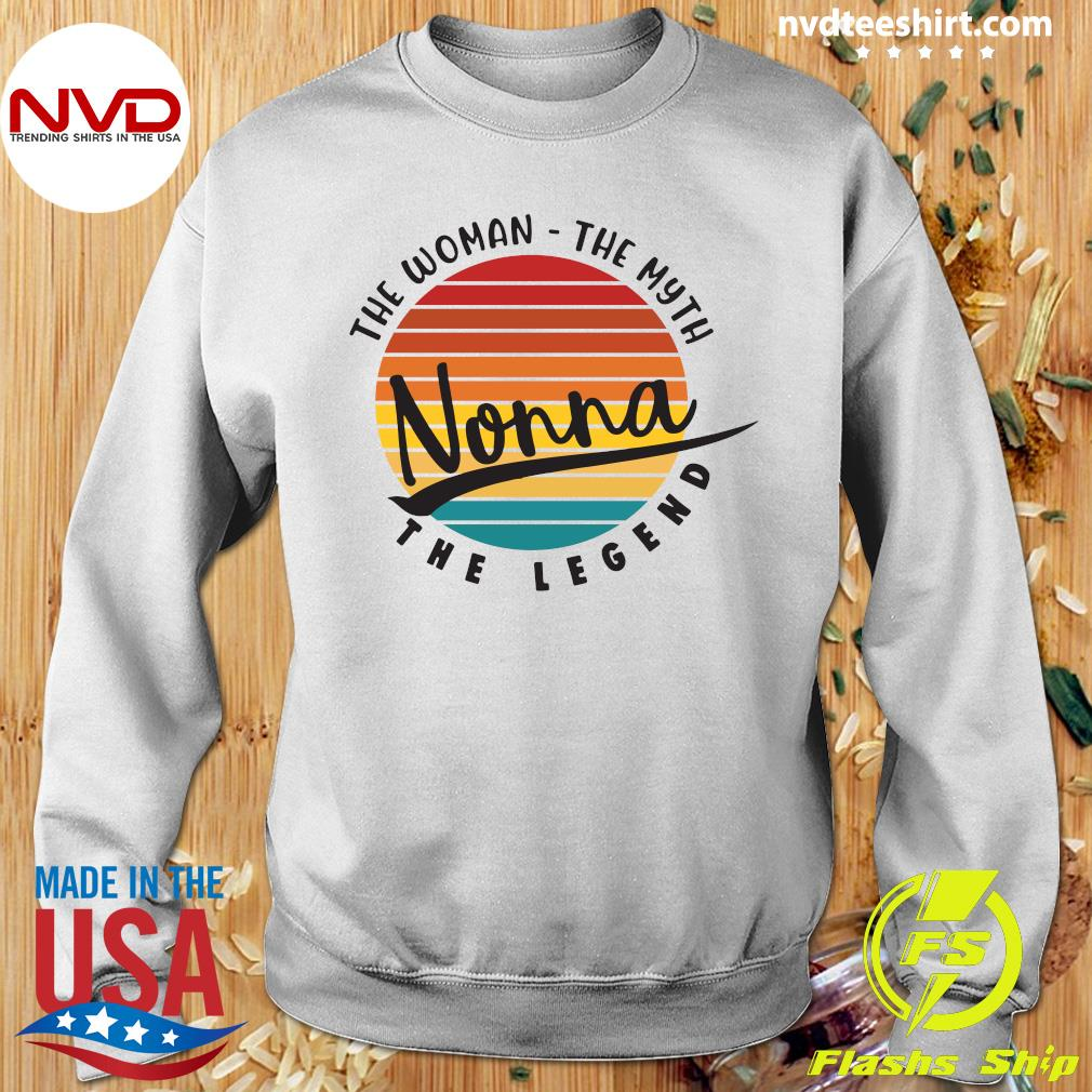 Official The Woman The Myth Nonna The Legend Vintage Retro T-s Sweater