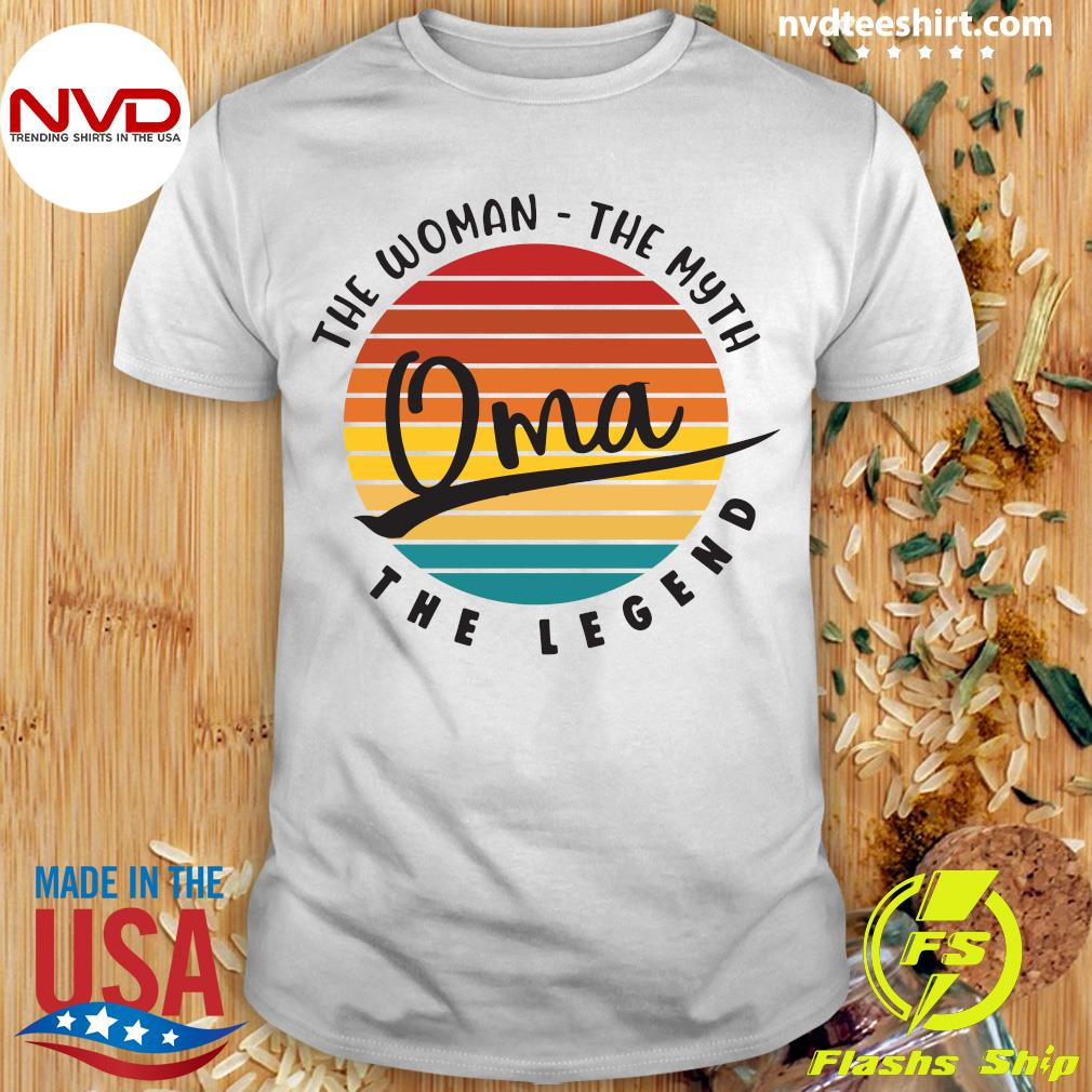Official The Woman The Myth Oma The Legend Vintage Retro T-shirt