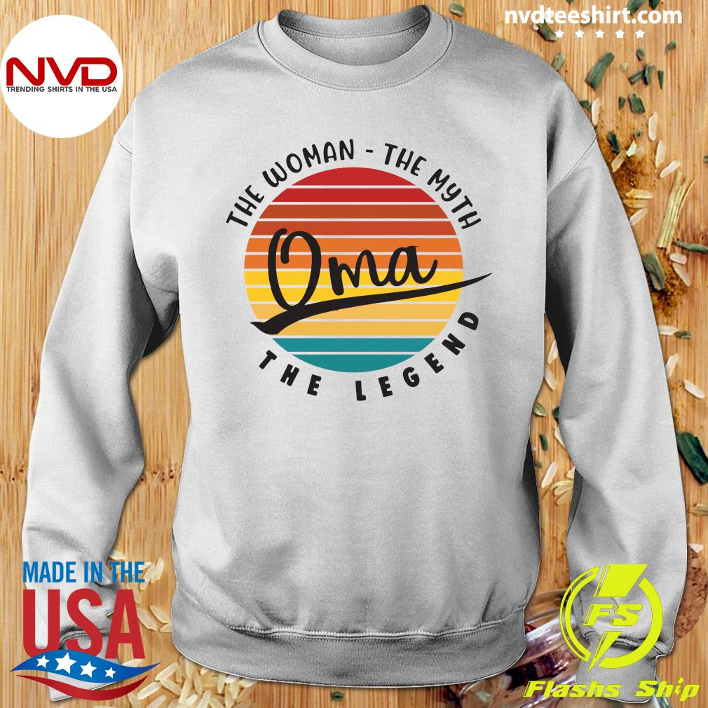 Official The Woman The Myth Oma The Legend Vintage Retro T-s Sweater