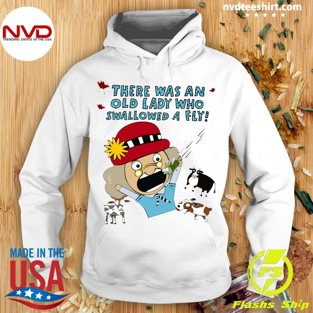 Official There Was An Old Lady Who Swallowed A Fly T-s Hoodie
