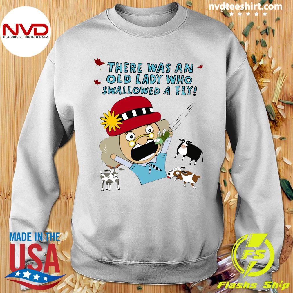 Official There Was An Old Lady Who Swallowed A Fly T-s Sweater