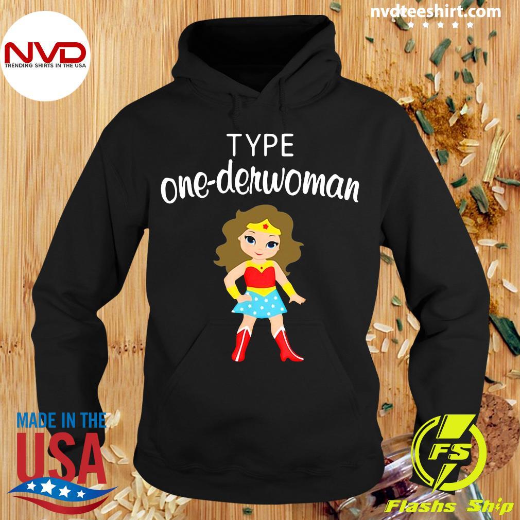 Official Type One Derwoman Diabetes Awareness Girl T-s Hoodie
