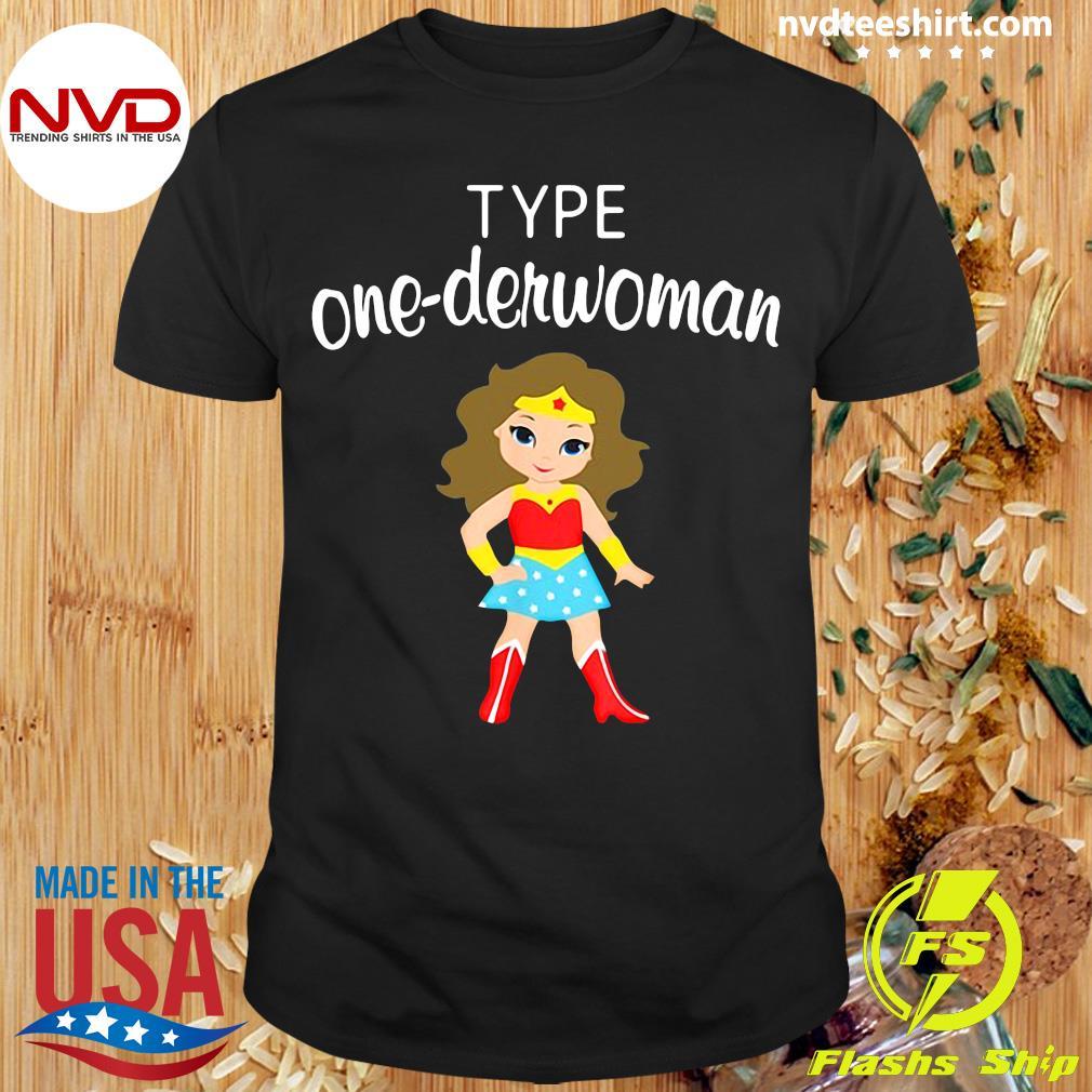 Official Type One Derwoman Diabetes Awareness Girl T-shirt