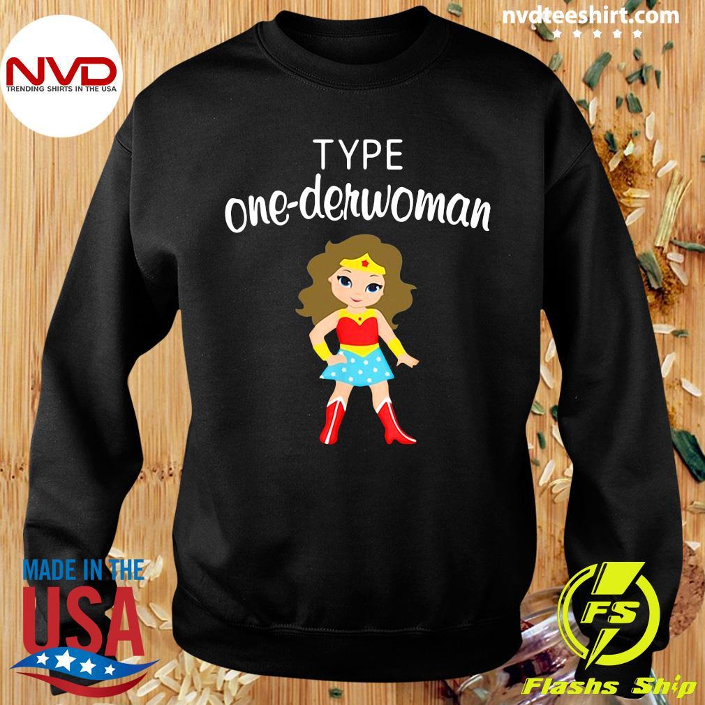 Official Type One Derwoman Diabetes Awareness Girl T-s Sweater