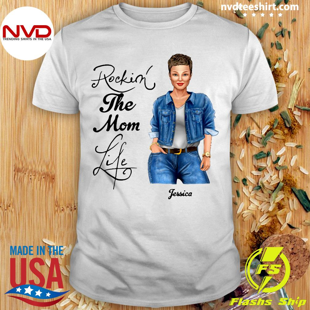 Official Rocking The Nana Life Pessica Personalized T-shirt
