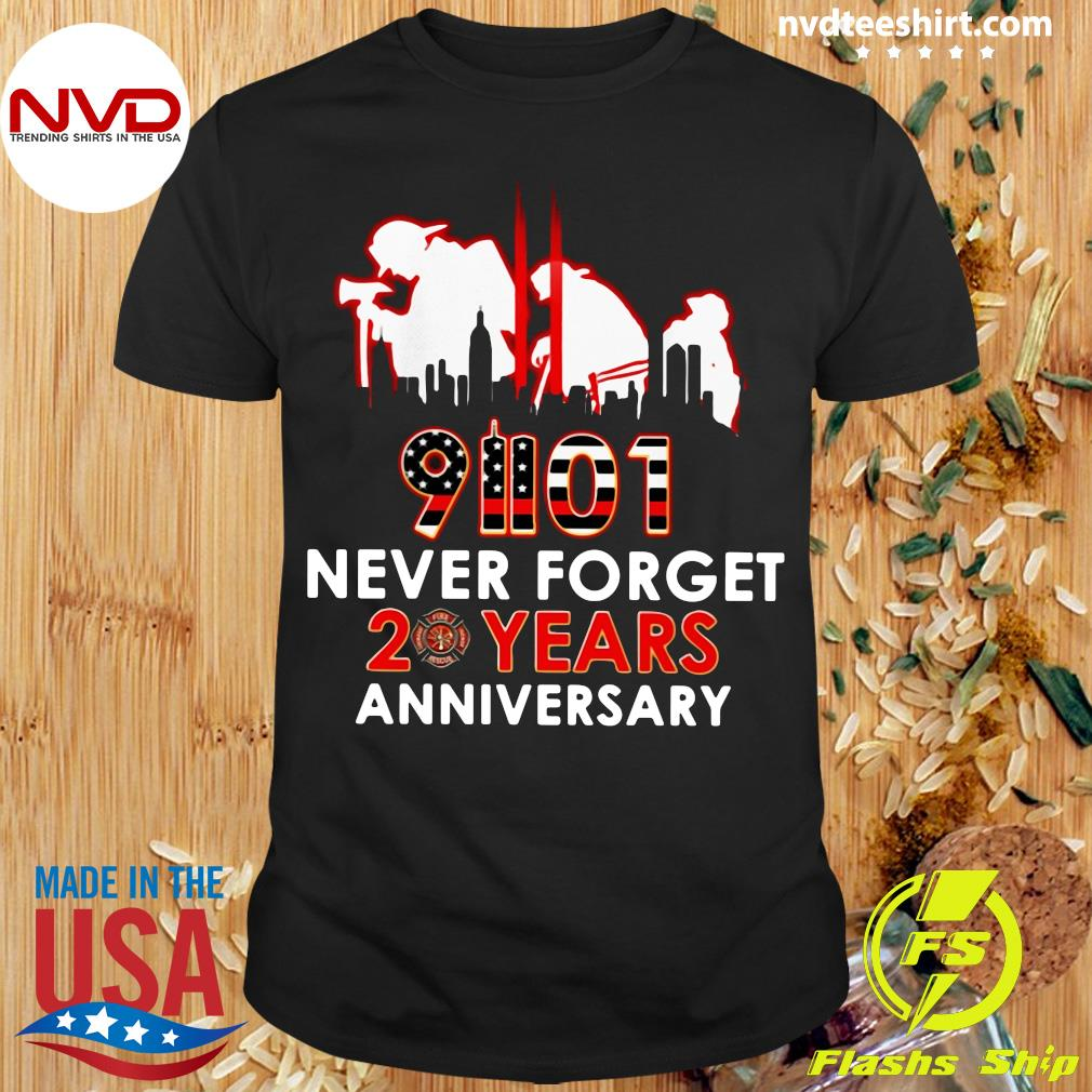 Official 9-11-2021 Never Forget 20Th Years Anniversary T-Shirt Masswerks Store