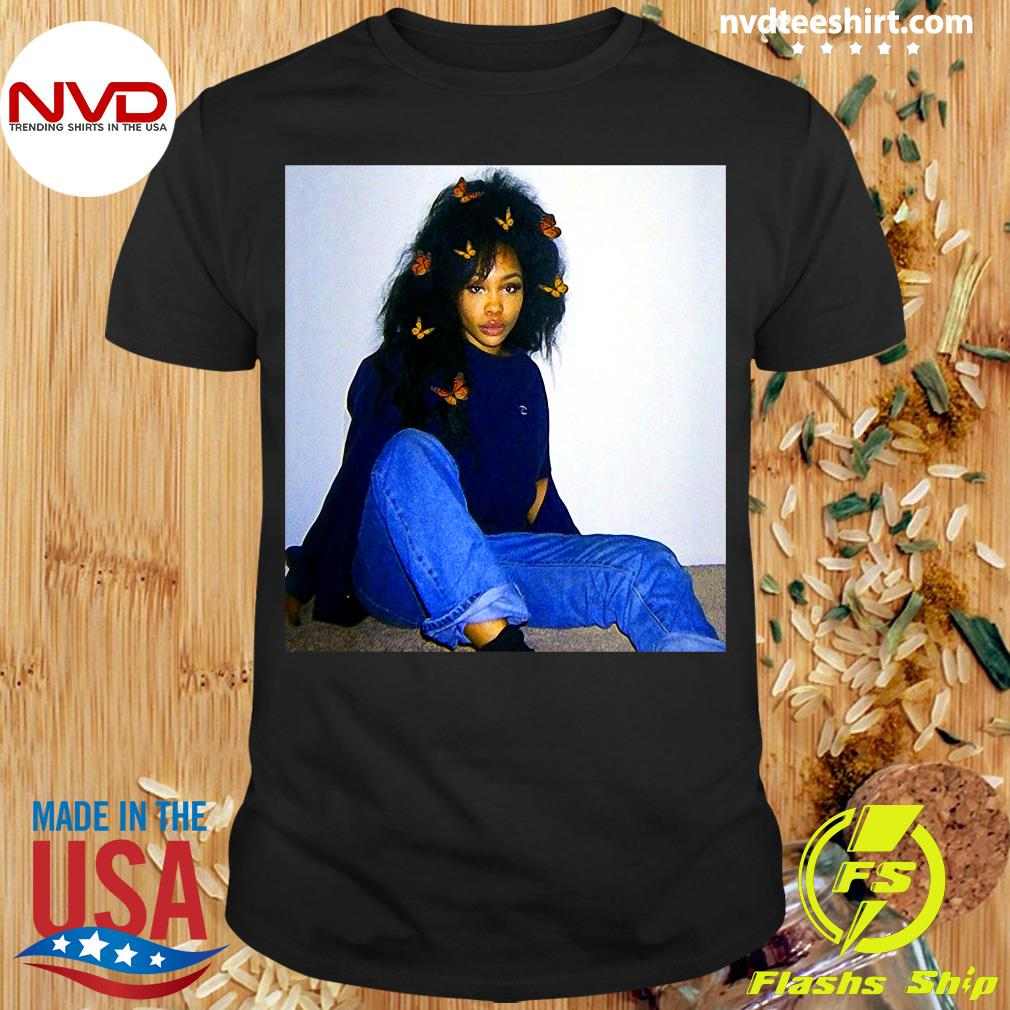 Official Graphic Sza's Distressed Arts Costume American Singers Music T-shirt