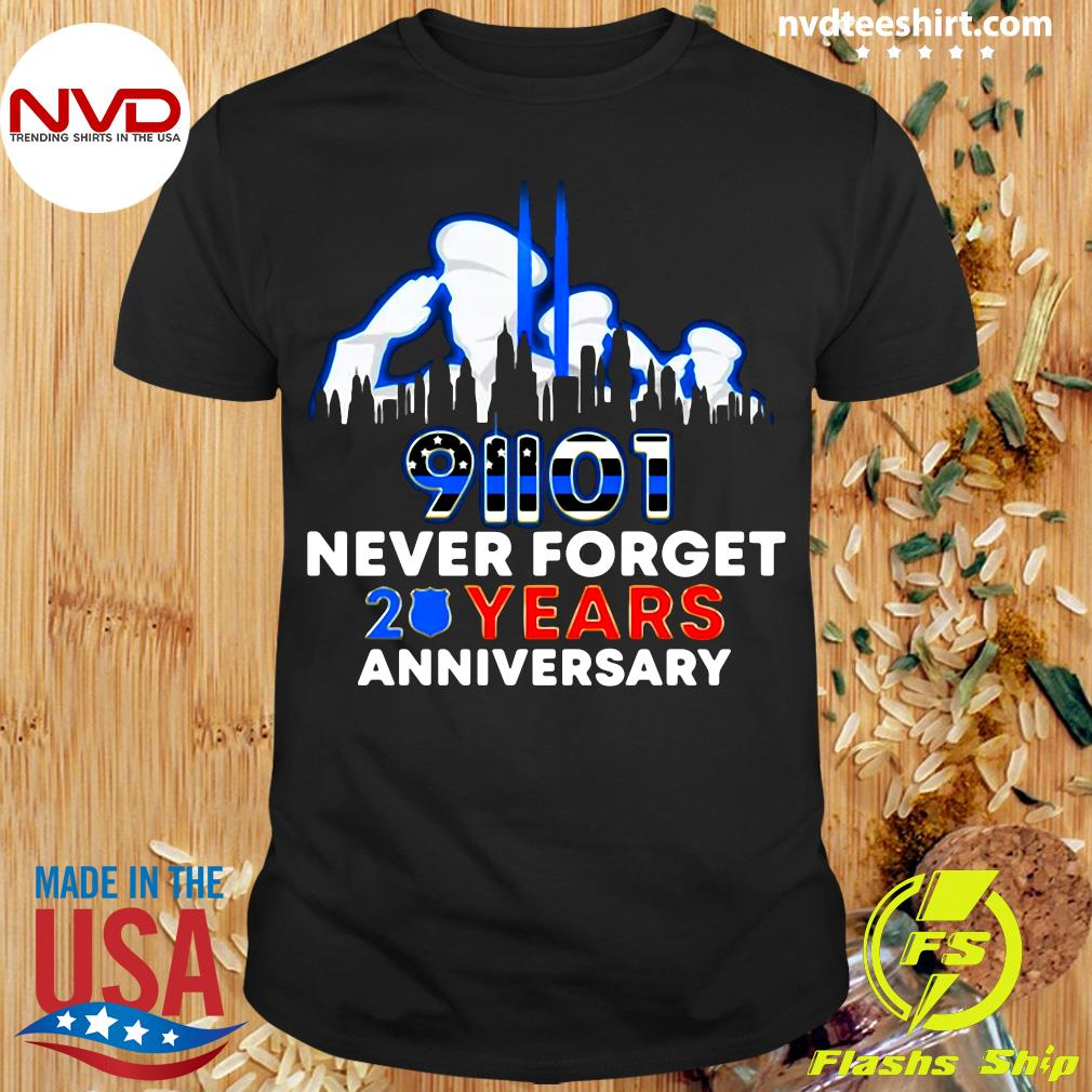 Official Police Never Forget 9 11 20Th Anniversary T-Shirt Masswerks Store