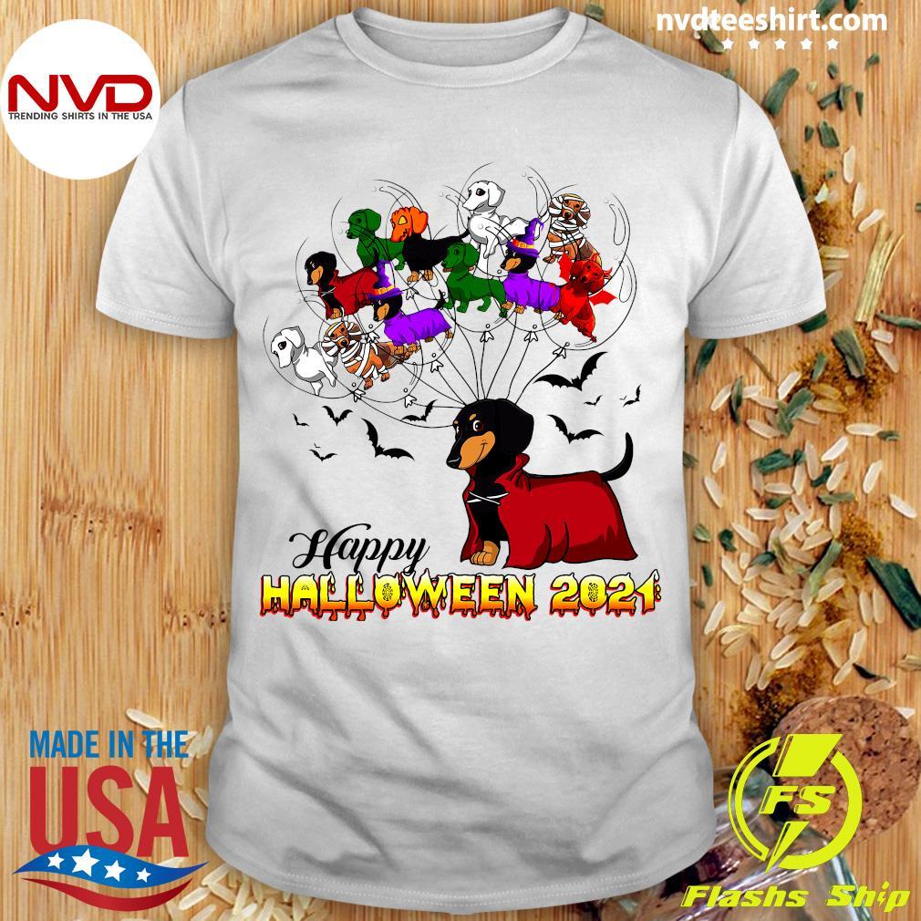 Dachshund Happy Halloween 2021 T-Shirt Masswerks Store