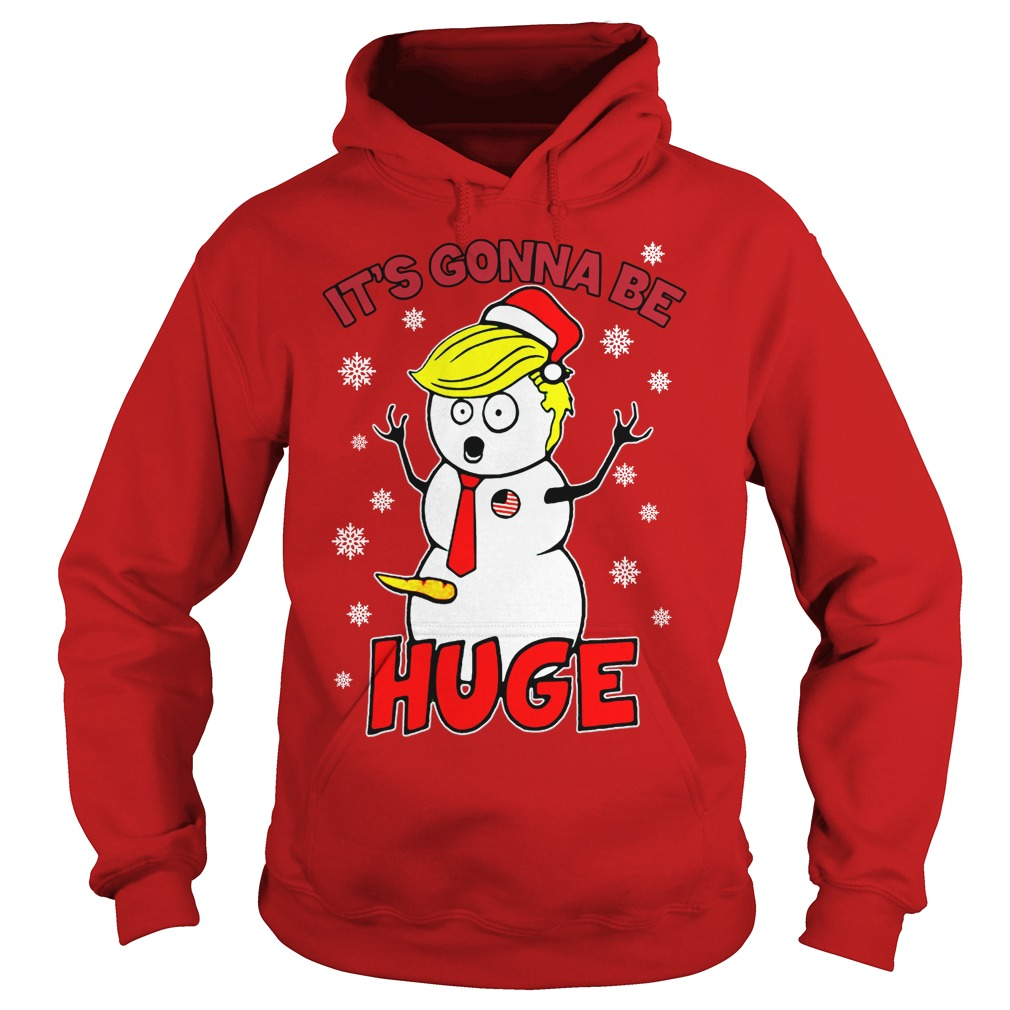 Big Snowman Ugly Christmas Sweater Red Youth T-Shirt