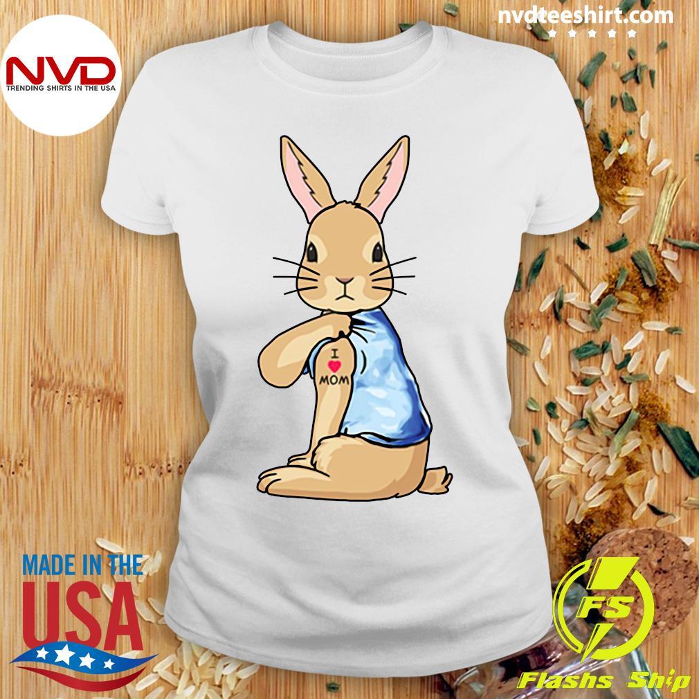 Bunny I Love Mom Tattoo Shirt Ladies tee