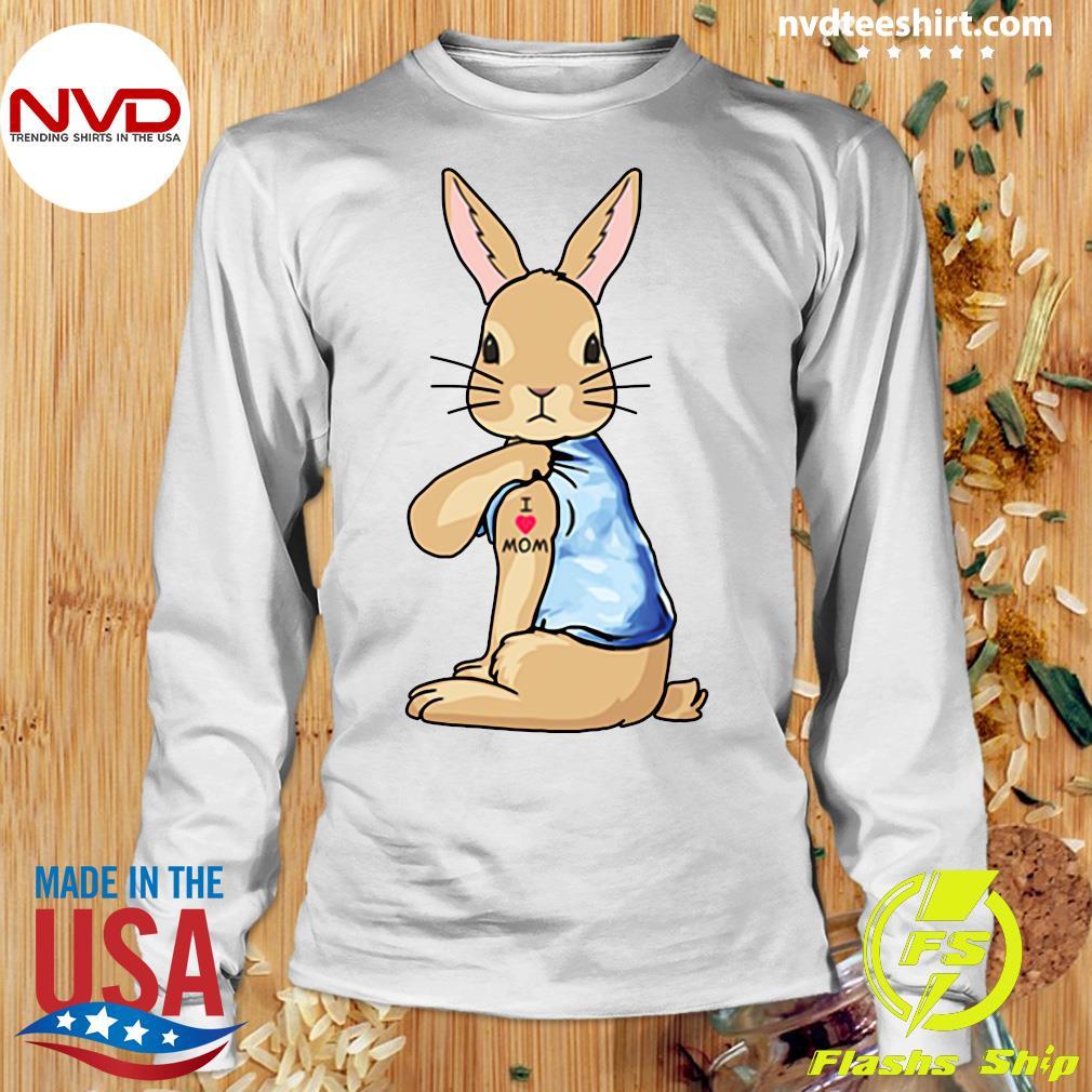 Bunny I Love Mom Tattoo Shirt Longsleeve