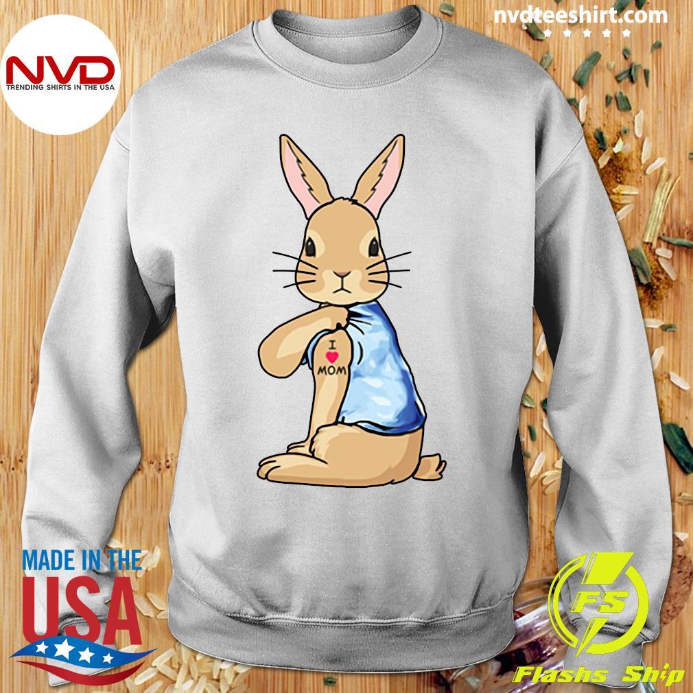 Bunny I Love Mom Tattoo Shirt Sweater